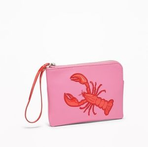 Old Navy Graphic Lobster Faux Leather Wristlet NWT